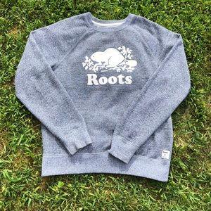 Roots Salt/Pepper Grey Original Crew Sweatshirt